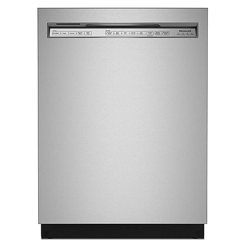 Lave-vaisselle à commande frontale avec panier de troisième niveau en acier inoxydable PrintShield, 44 dBA - ENERGY STAR