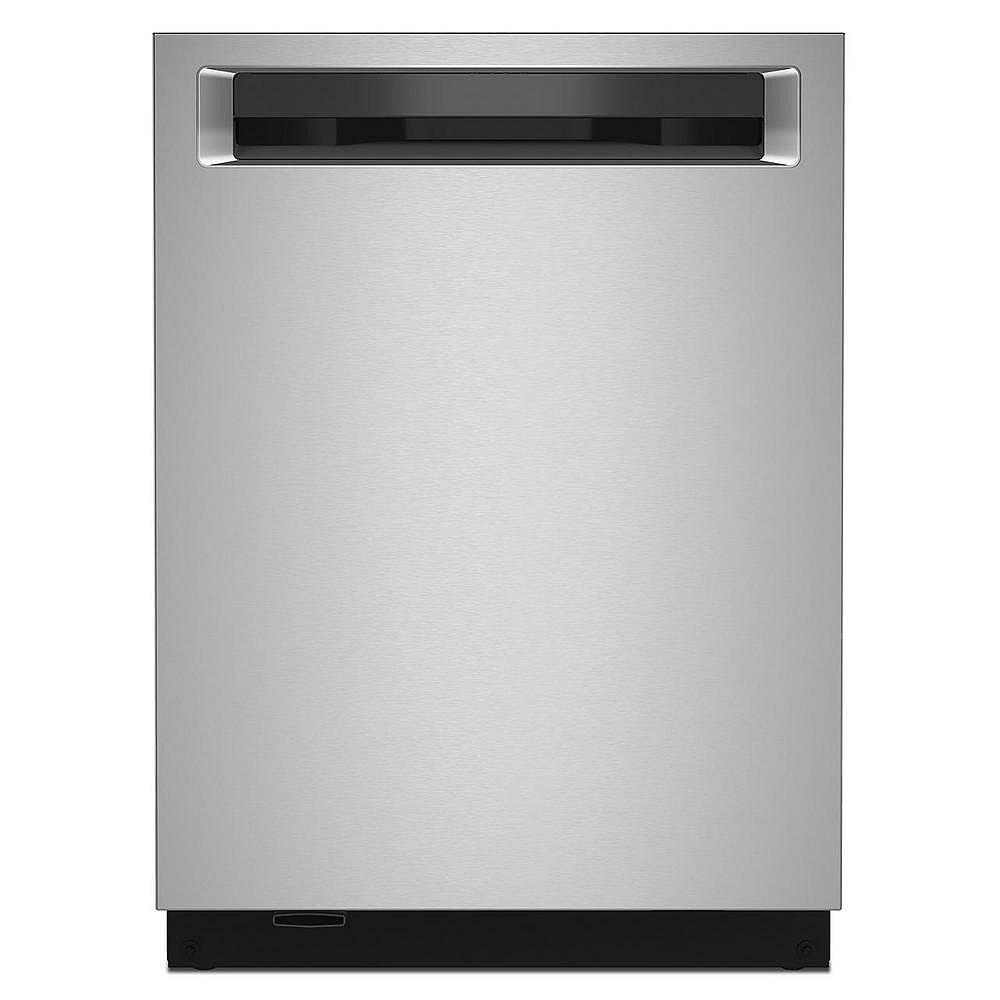 KitchenAid Top Control Dishwasher with Third Level Rack and Interior Lighting in PrintShield Stainless Steel, 44 dBA
