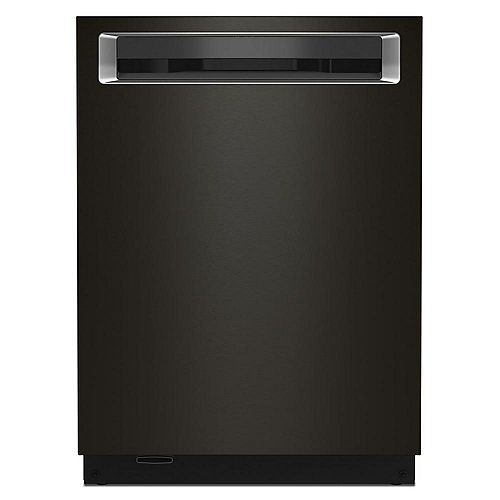Top Control Dishwasher with Third Level Rack and Interior Lighting in Black Stainless Steel, 44 dBA