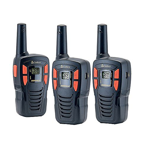 Adventure Series 25 km, 22 Channel Two Way Radio / Walkie Talkie - 3 Pack
