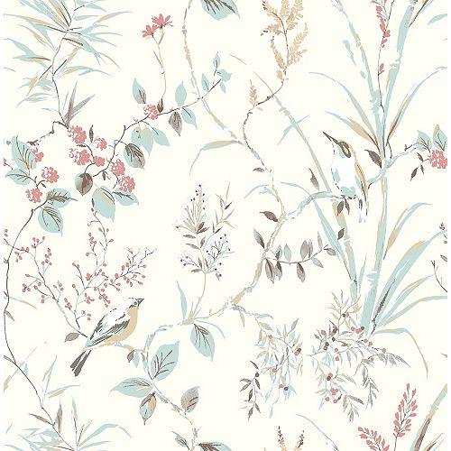 Papier Peint Botanique Mariko crème