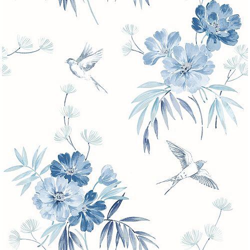 Papier Peint Deja Blue à fleurs