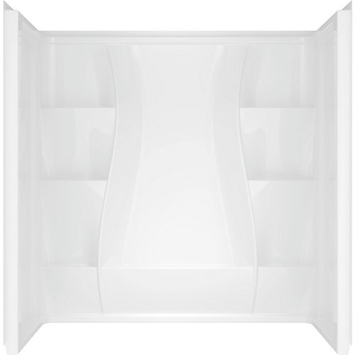 Classic 400 Curve 29.875 in. x 59.88 in. x 61.51 in. 3-Piece Direct-to-Stud Tub Surround in White