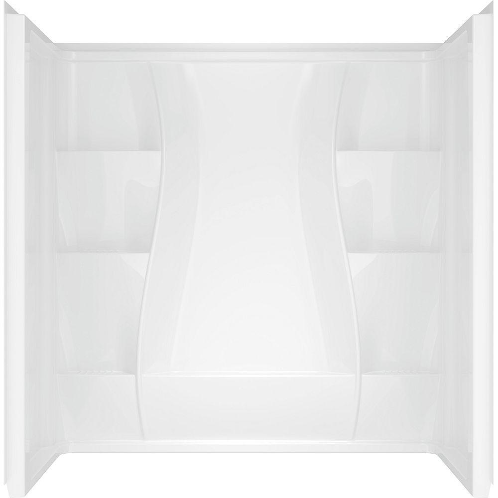 Delta Contour de baignoire Classic 400 Curve 3 pièces qui se fixe directement aux montants, en blanc