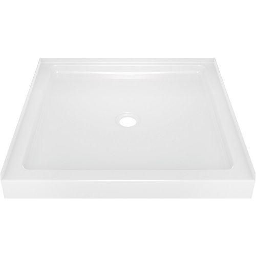 Classic 400 36 in. x 36 in. Single Threshold Shower Base in High Gloss White