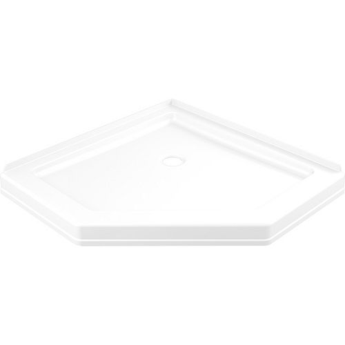 38.25 in. x 38.25 in. Single Threshold Neo Angle Shower Base in White