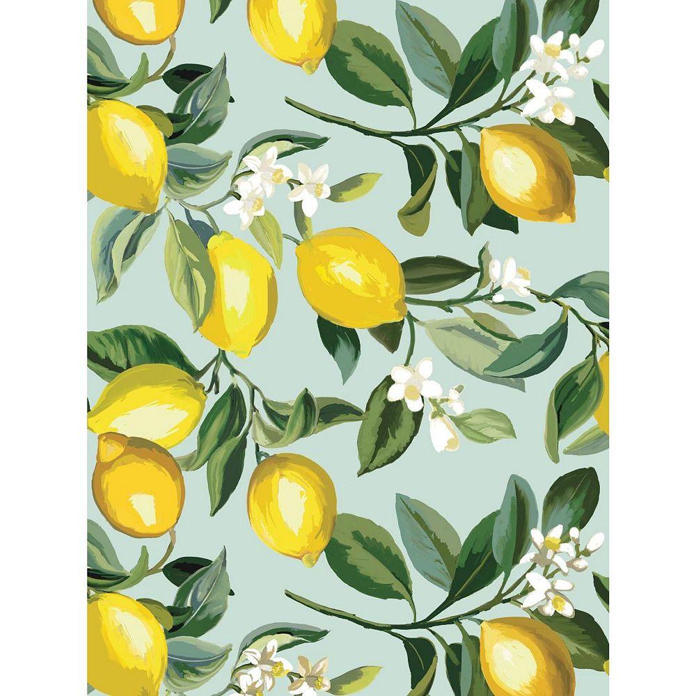 RoomMates Lemon Zest Peel & Stick Wallpaper | The Home ...