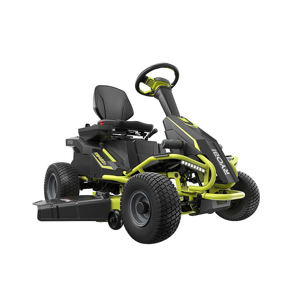 RYOBI 38-inch 100 Ah Battery Electric Rear Engine Riding Lawn Mower