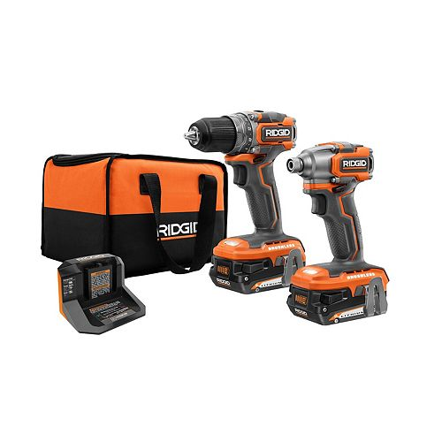 18V Brushless Sub-Compact Cordless 1/2 -inch Drill/Driver and Impact Driver Combo Kit