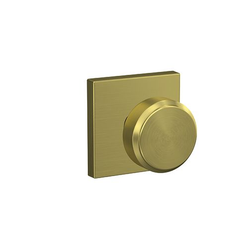 Bowery Gold Bed/Bath Privacy Lock Knob with Collins Trim