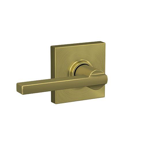 Latitude Gold Hall/Closet Passage Door Lever with Collins Trim