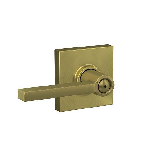 Latitude Gold Bed/Bath Privacy Door Lever with Collins Trim
