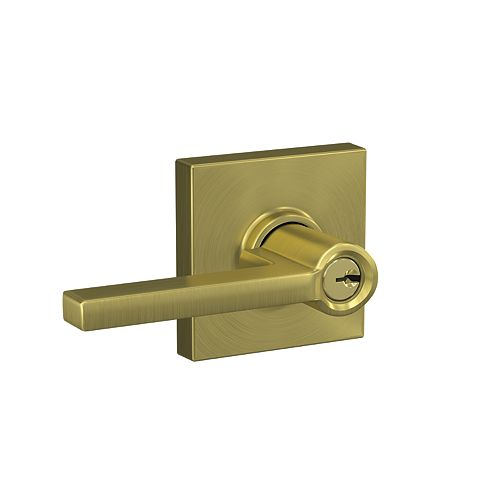 Latitude Gold Keyed Entry Lock with Collins trim