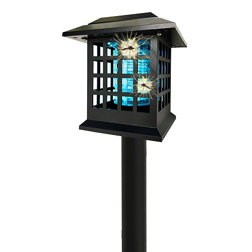 Solar Powered Cordless Dual Lighting Modes Bug Zapper (2 Stakes)