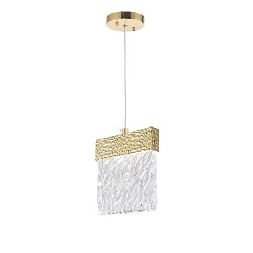 "CWI Lighting Carolina 6"" LED Pendant with Gold Leaf Finish"