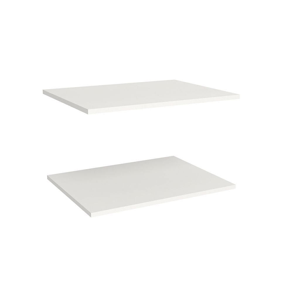 ClosetMaid Étagères supplémentaires de luxe de 63,50 cm en blanc (paquet de 2) Impressions de
