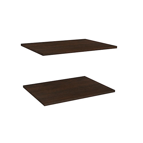 Impressions 25 in. Deluxe Extra Shelves in Chocolate (2 Pack)