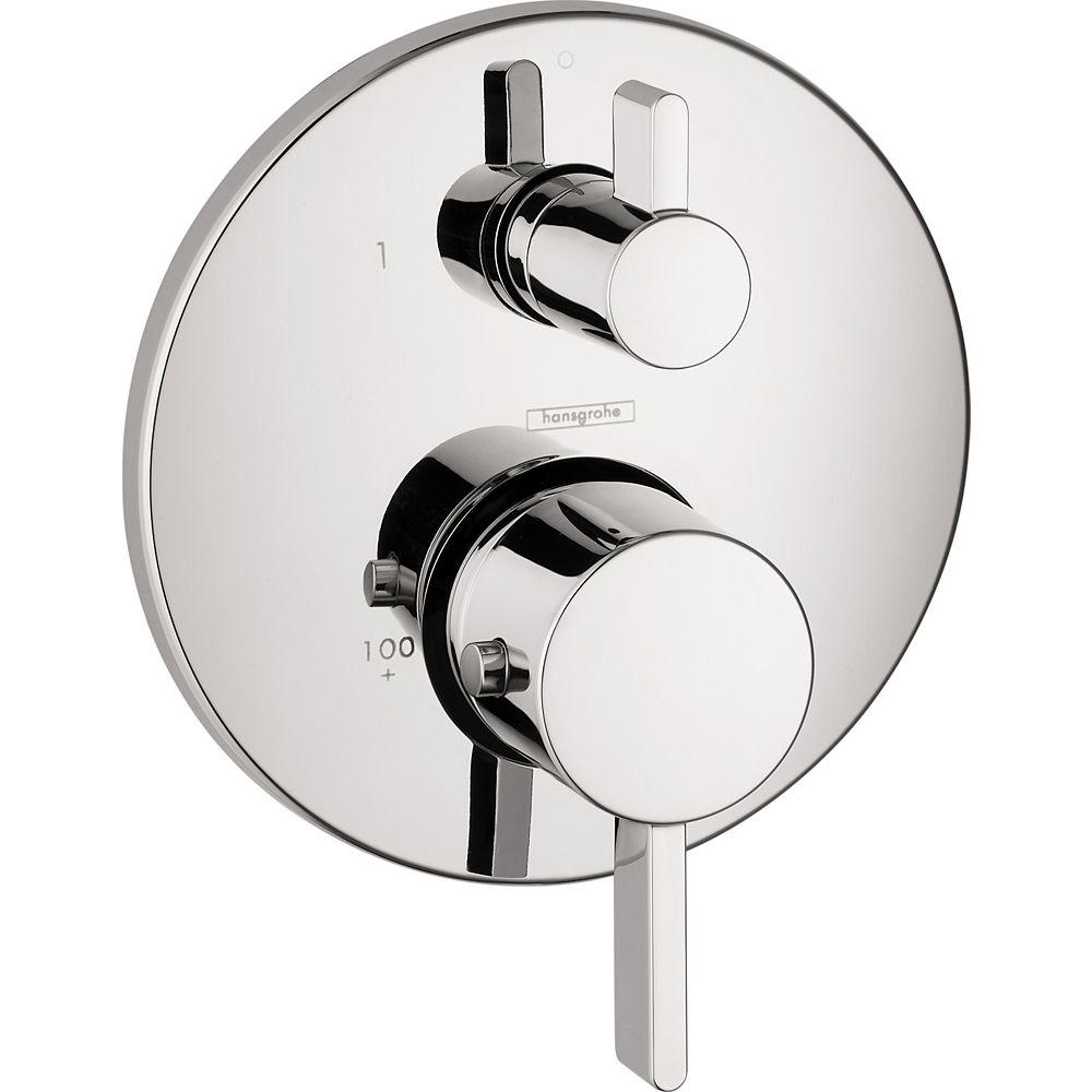 Hansgrohe Ecostat S Kit de garniture de douche thermostatique à 2 poignées avec garniture chromée (valve vendue séparément)