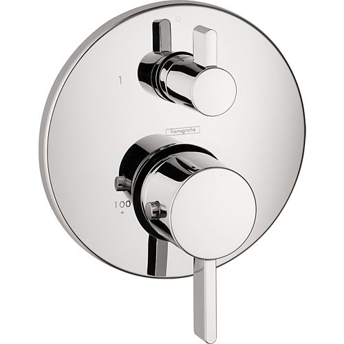 Ecostat S 2-Handle Thermostatic Shower Valve Trim Kit with in Chrome (Valve Sold Separately)