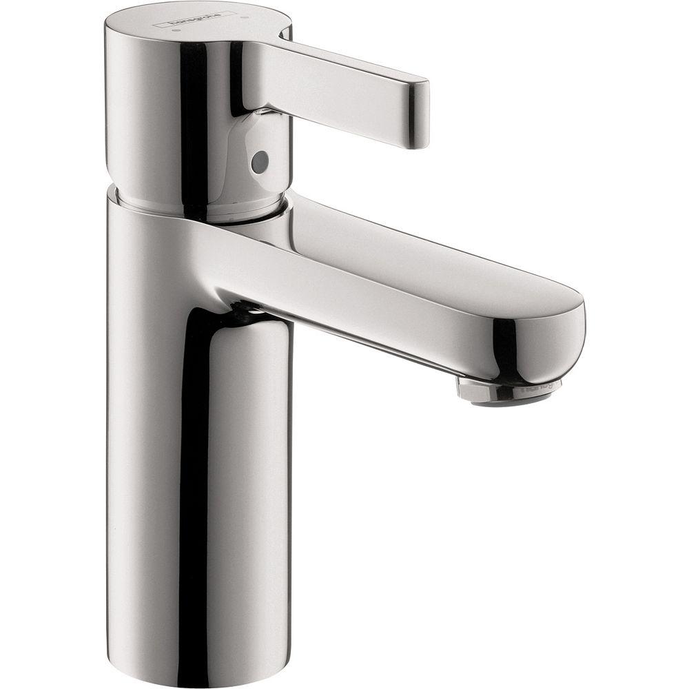 Hansgrohe Metris S Robinet de salle de bains monotrou à 1 poignée en chrome sans fenêtre pop-up