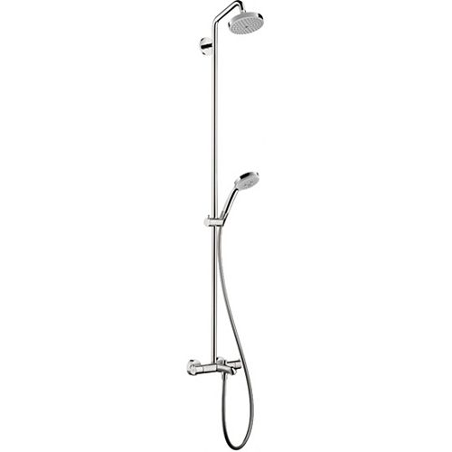 Croma Showerpipe 150 1-Spary with Tub Filler in Chrome
