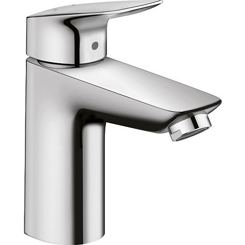 Logis 100 Single Hole Single-Handle Bathroom Faucet with Drain in Chrome