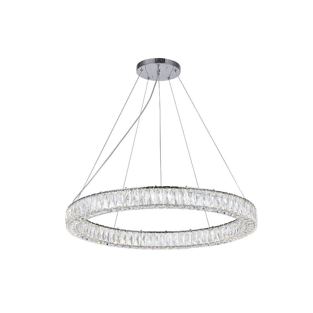 CWI Lighting Madeline 32 inch 1-Bague Lustre Led Avec Finition Chrome