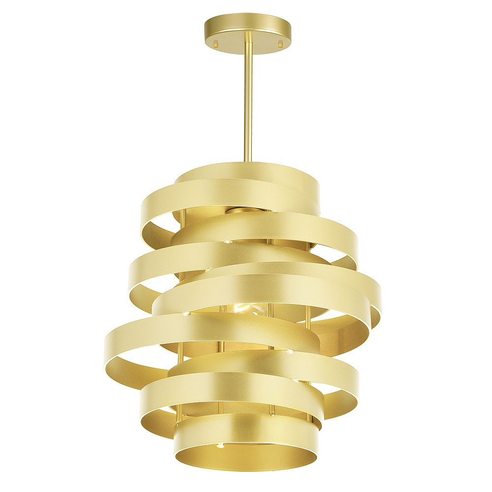 "CWI Lighting Elizabetta 10"" 1 Light Pendant with Gold Leaf Finish"