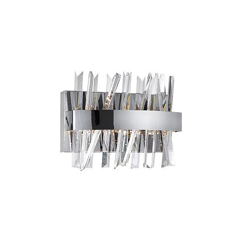 Faye 12-in LED Wall Sconce with Chrome Finish