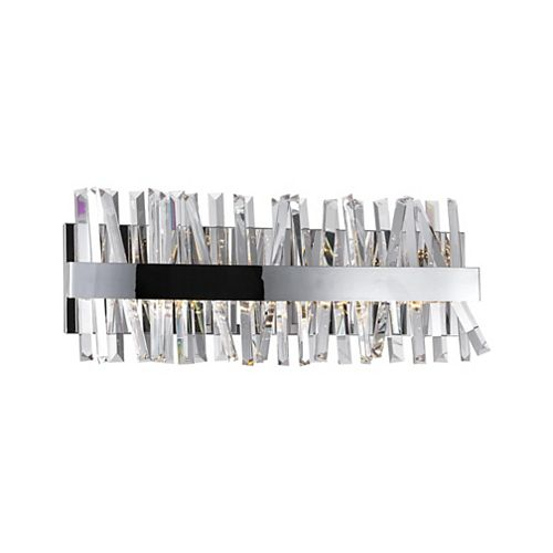 CWI Lighting Faye 24-in LED Wall Sconce with Chrome Finish