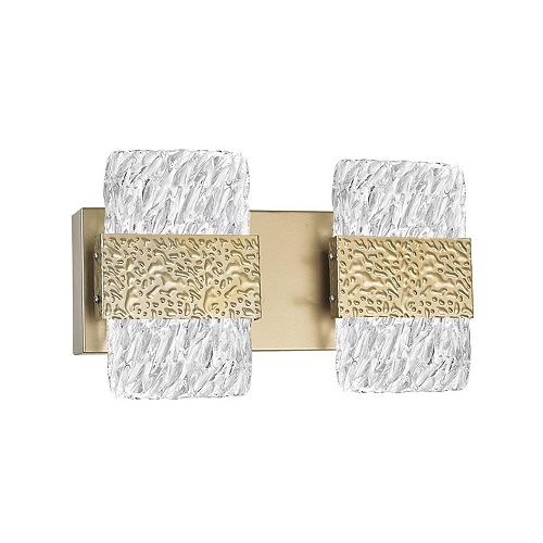 CWI Lighting Carolina 14-in LED Wall Sconce with Gold Leaf Finish