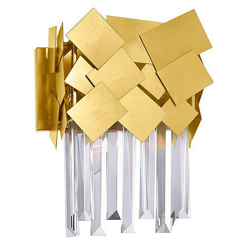 Panache 10-in Applique murale à 1 lumière avec fini médaillon doré
