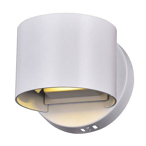 Lilliana 5-in LED Wall Sconce with White Finish