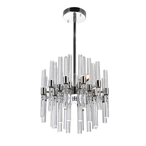 "CWI Lighting Miroir 10"" 3 Light Mini Chandelier with Polished Nickel Finish"
