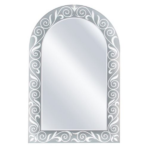 23 in. x 35 in. Spring Arch Wall Mirror