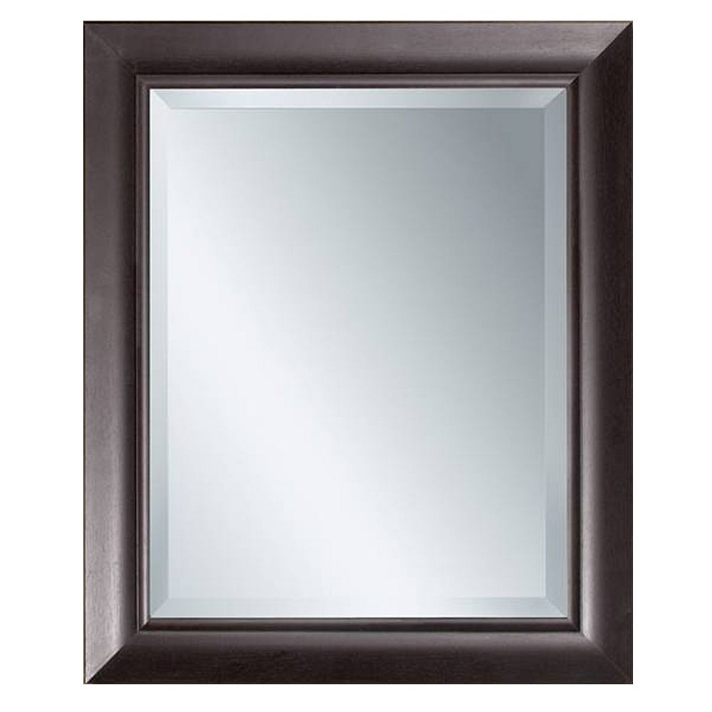 Deco Mirror Miroir mural au fini espresso, 28,5 po x 34,5 po