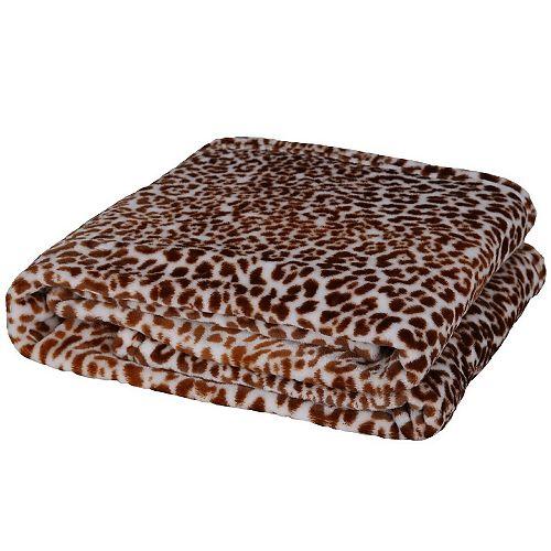 """Couverture / Couverture en flanelle douce et légère imprimée léopard. 50""""x70"""""""