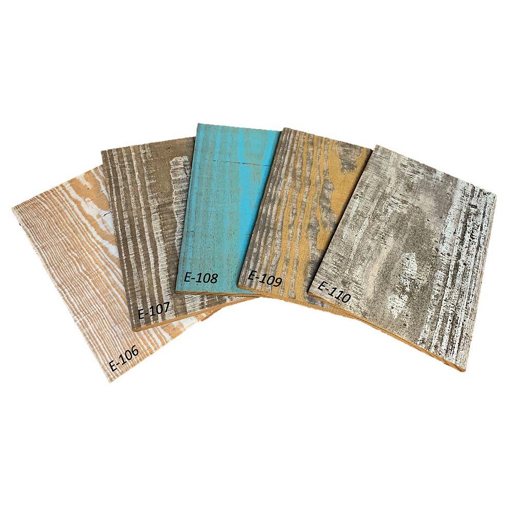 Easy Planking Échantillons  de Planche Murale en Bois de 1/4 po x 5 po x 4 pi Traité Thermiquement