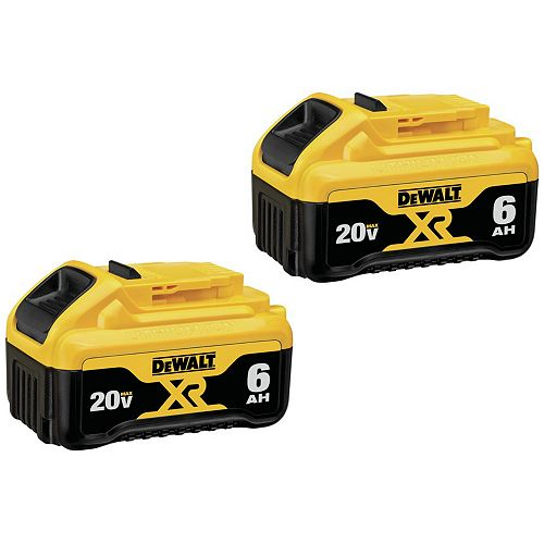 20V MAX XR Lithium-Ion Premium Battery Pack 6.0Ah (2-Pack)