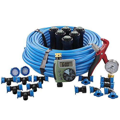 In Ground Sprinkler System with Blu Lock Tubing System and Digital Hose Faucet Timer