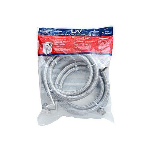 "Washing Machine Connector Hose Kit 72"""