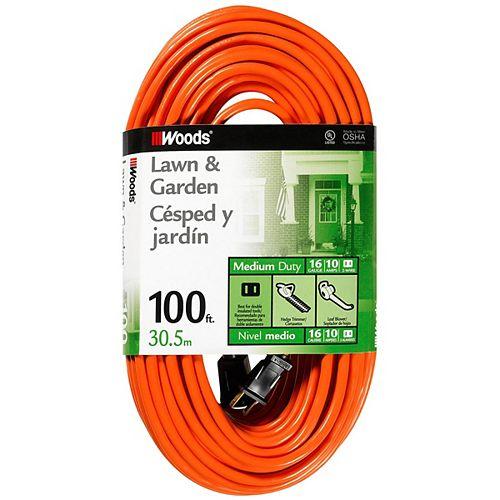 Southwire Rallonge extérieure SJTW 16/2 orange de 100 pi