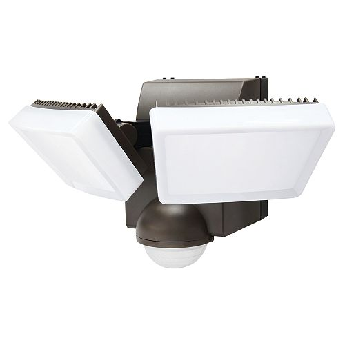 180° Battery-Operated Double Light with 800 lumens in Bronze