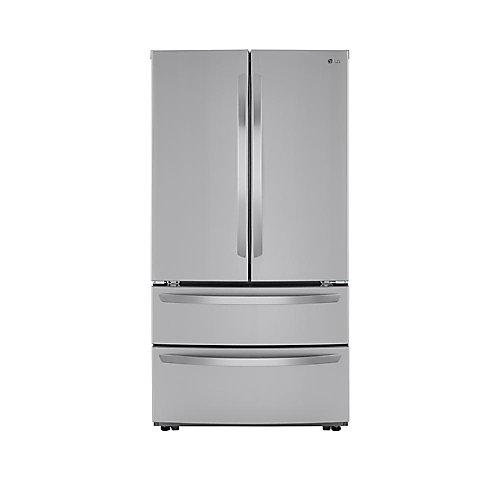 Réfrigérateur de 36 po à 4 portes avec porte à deux battants et distributeur d'eau intégré