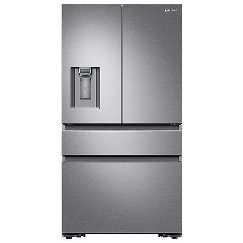 36-inch W 22.6 cu. ft. 4-Door French Door Refrigerator in Stainless Steel, Counter Depth - ENERGY STAR®