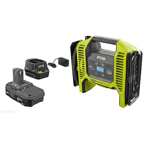 18V Dual Function Inflator/Deflator with 1.5 Ah Battery and Charger