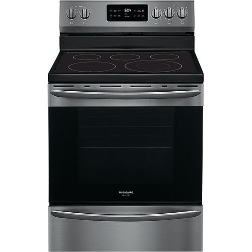 30-inch 5.4 cu. ft. Freestanding Electric Range in Smudge-Proof® Black Stainless Steel