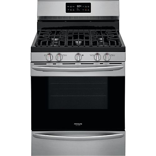 Frigidaire Gallery 30-inch 5.0 cu. ft. Freestanding Gas Range in Smudge-Proof® Stainless Steel