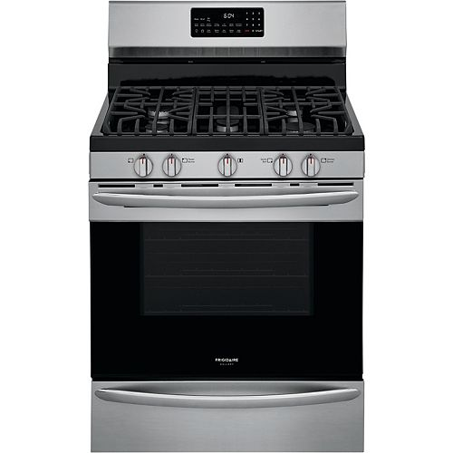 Frigidaire Gallery 30-inch 5.0 cu. ft. Freestanding Gas Range with Air Fry in Smudge-Proof® Stainless Steel