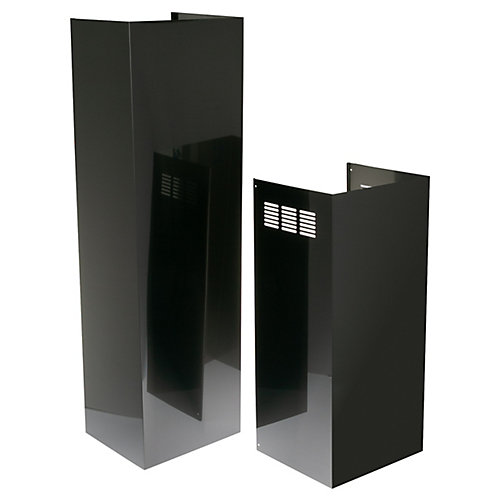 18-inch W 10 ft. Duct Cover in Black Stainless Steel